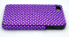 Purple colour Acrylic Rhinestone for iphone 4 case,cell phone case cover