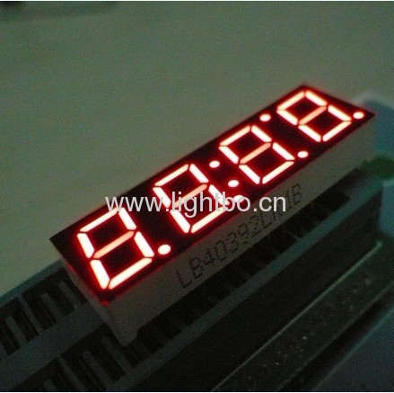 super bright red common cathode 0.39 inches 4 digit numeric led clock displays