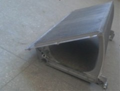 Aluminum Step Without Demarcations 600mm Grey