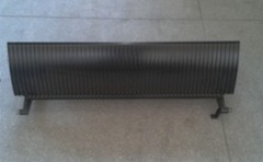 Aluminum Step Without Demarcations 600mm Black