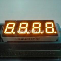 4-stellige 0,4 Zoll Gemeinsame Kathode Bernstein 7-Segment LED Numerische Anzeigen