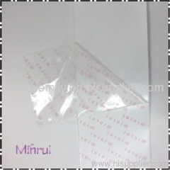Transparent destructible label vinyl materials,clear destructible PVC label materials