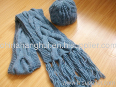 2012 newest fashion knitted scard&hat set