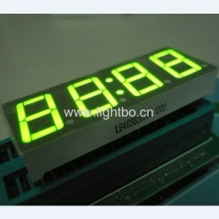 Super brilhante ânodo comum verde 4 dígitos 0,56 polegadas LED de 7 segmentos relógio é exibido