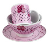 Pink Flower Ceramic Dinner Set