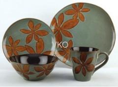 Color Inside Old Design Porcelain Dinner Mug Bowl Plate Set