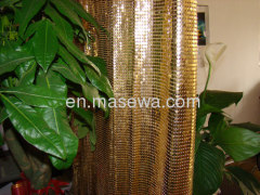 yellow metallic colth for divider