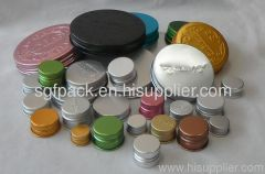 Aluminum screw cap single wall cap14mm-100mm any size