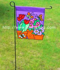 decorative flower basket garden flag;