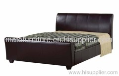 soft leather bedroom bed