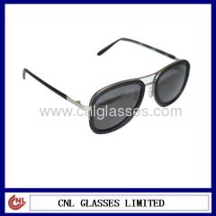 Metal eyewear with acetate quality designer sunglass