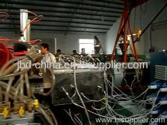 WPC hollow grid door board extrusion line
