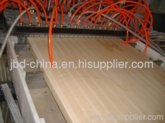 wood plastic door board extrusion line
