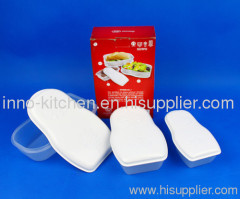 Set of 3 food container with lid