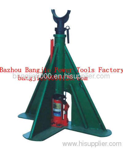 Triangle hydraulic pay-off stand/cable drum lifter stands BJXJ021 ...