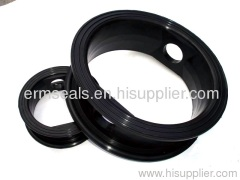 Rubber butterfly valve seal