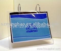 clear acrylic calendar holder