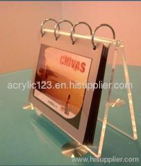 acrylic calendar holder stand