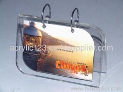 desktop acrylic calendar holder