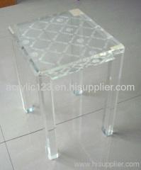 clear acrylic mini stool