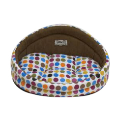 colorful dot pet bed