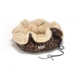 round pet bed with cording