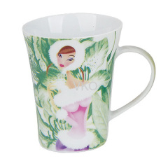 New Bone China Water Cup With Beautiful Lady Design
