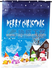 colorful snowman garden flag