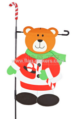 Custom bear with stick flag