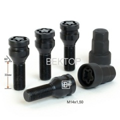 Black Wheel Locking Bolt