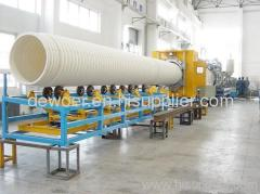 PE single wall corrugated pipe making production line