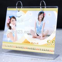 calendar acrylic desk stand