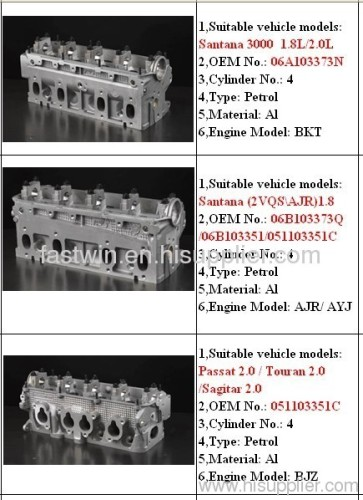Aluminum engine cylinder head opel vm