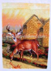 Wild deer garden flag