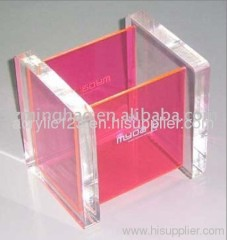 acrylic business card storage box