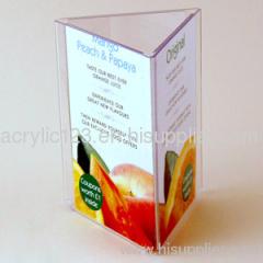 acrylic standing menu holder
