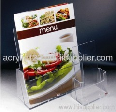 acrylic stand-up sign holder