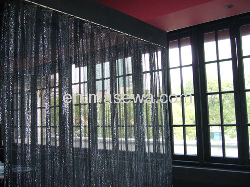 black metallic cloth screen