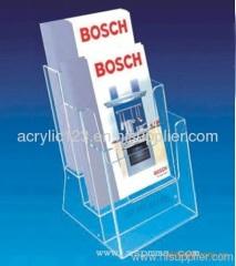 acrylic desk brochure holder display