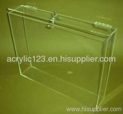 clear acrylic storage box