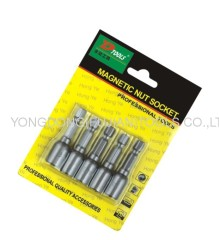 5PCS MAGNETIC POWER NUT DRIVER SET