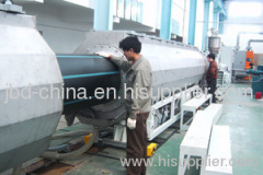 PE water supply and drainage pipe production line