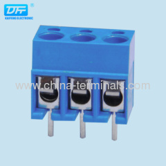 5.0mm 300V 12A UL/ROHS blue color pitch Wire Connecting Terminal Block manufacturer