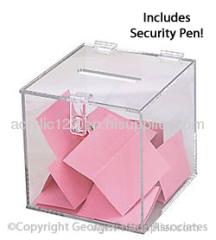 acrylic vote display box