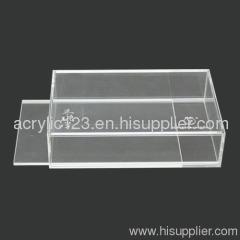 Acrylic display box with slide door