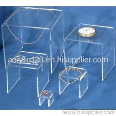 acrylic U shape display stand