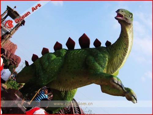 Waterproof fiberglass dinosaur model