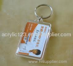acrylic photo frame key ring