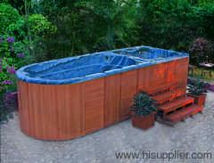 Outdoor swim pool spa