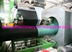 Anticorrosion coating machine for steel pipe